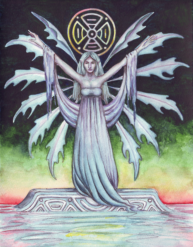 Asrai - Watercolour painting by Amy Letts, Faery, Mythology